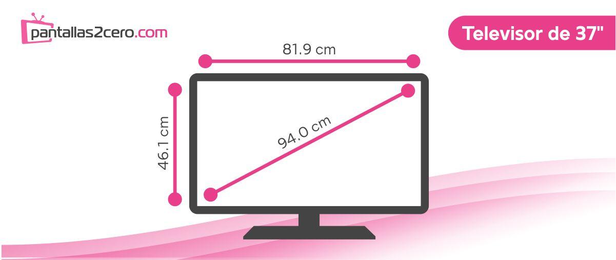 Medidas TV de 37 pulgadas